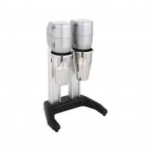 Mixer dublu pentru frappe/ cocktail-uri, 2 pahare din inox cu capacitatea de 0,8 litri, motor cu o viteza 15000/rpm, putere 300W