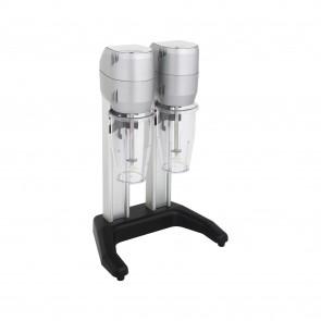 Mixer dublu, pentru frappe, cocktail-uri, cu 2 pahare din plastic 0,8 litri, motor cu o viteza 15000 rot/min, putere 280 W