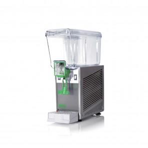 Distribuitor bauturi racoritoare, cu pompa cu efect fantana, 1 grup, capacitate 12 litri, cuva din policarbonat, structura portanta din inox