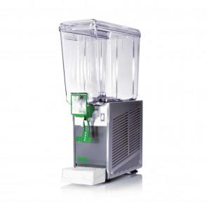 Distribuitor bauturi racoritoare, cu pompa cu efect fantana, sistem gravitational de erogare, 1 grup, capacitate 20 litri, cuva din policarbonat, structura portanta din inox, compresor ermetic