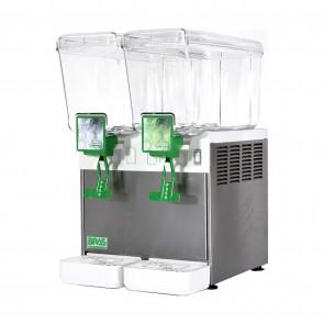 Distribuitor bauturi racoritoare, cu pompa submersibila, 2 grupuri, capacitate 2x5 litri, compresor ermetic, structura portanta din inox
