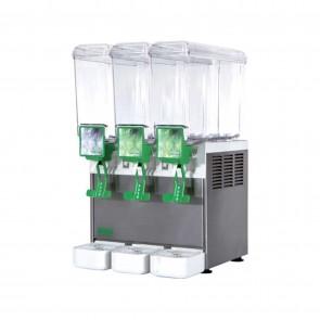 Distribuitor bauturi racoritoare, cu pompa submersibila, 3 grupuri, capacitate 3x5 litri, compresor ermetic, structura portanta din inox