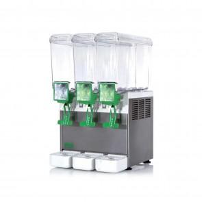Distribuitor bauturi racoritoare, cu pompa submersibila, sistem gravitational de erogare, 3 grupuri, capacitate 3x8 litri