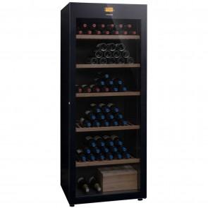 Vitrina vinuri, numar maxim de sticle(0.75L) 294 buc, eficienta energetica clasa A, nivel de zgomot 38dB(A), interval temperatura 8-18 °C