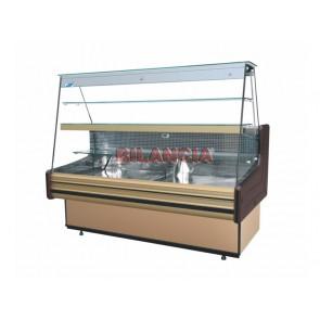Vitrina frigorifica pentru cofetarie, cu motor, geam drept, putere 494W