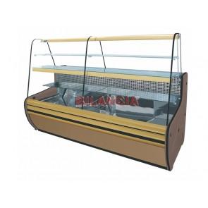 Vitrina frigorifica pentru cofetarie, geam curbat in partea superioara, temperatura de lucru +2°C/ +8°C, putere 767W