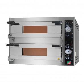 Cuptor pizza, electric, cu 2 camere, capacitate 6+6 pizza cu diametru de 340mm, alimentare 380V, putere 14400W