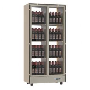 Vitrina verticala pentru vinuri, capacitate 128 sticle, asezate vertical,  putere 360W