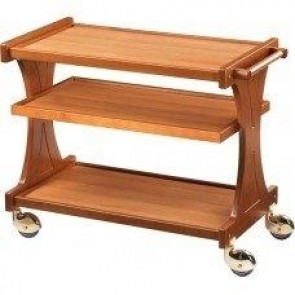 Carucior pentru servire, din lemn, cu 3 polite