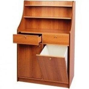 Mobilier din lemn, pentru servire, prevazut cu 1 usa cu pubela