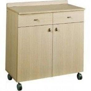 Mobilier neutru din lemn, 2 usi, 2 sertare pentru tacamuri