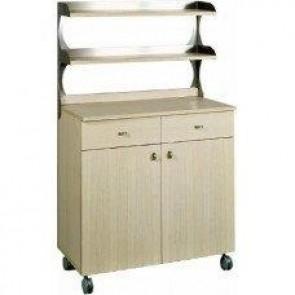 Mobilier neutru din lemn, inalt, 2 usi, 2 sertare pentru tacamuri