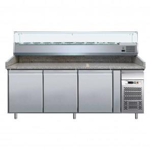 Banc refrigerat pentru pizza, vitrina ingrediente, capacitate 580 litri, putere 260 W