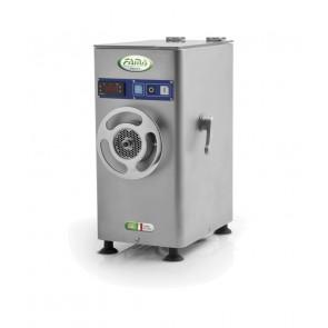 Masina de tocat carne, refrigerata, din inox, productivitate 280kg carne/ora, motor 1400 rotatii/min, alimentare 380V, putere instalata: 900W