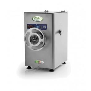 Masina de tocat carne, refrigerata, din inox, productivitate 450kg/ora, motor 1400 rotatii/min, alimentare 380V, putere instalata: 1100W