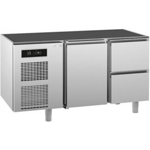 Masa rece cu 1 usa si 2 sertare, fara blat de lucru, temperatura de lucru 0°C/+10°C, putere 350W