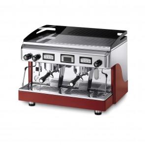 Espressor electronic cu display, cu 2 grupuri, capacitate boiler 10.5 litri, alimentare 220/380V, putere 3600/3920W, culoare rosu