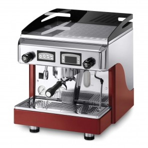Espressor electronic cu display, cu 1 grup, capacitate boiler 6 litri, putere 2900/3160 W, rosu