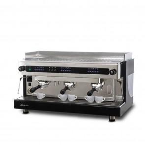 Espresor electronic cu dozator volumetric, cu 3 grupuri, capacitate boiler 17 litri, alimentare 380V, putere 5300 W