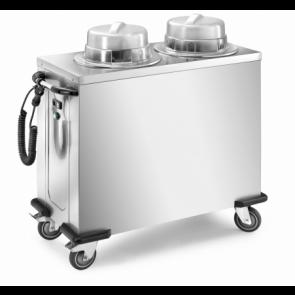 Distribuitor cald, pentru farfurii, cu 2 coloane reglabile, capacitate 100/120 farfurii rotunde
