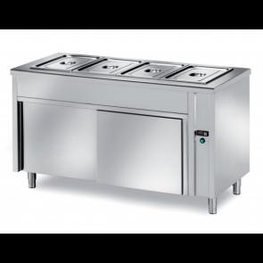 Masa calda bain-marie self-service, capacitate 2xGN1/1, cuva h 200, putere 2000W