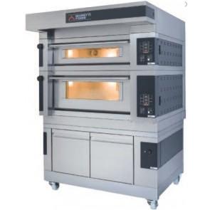 Cuptor electric pentru panificatie/patiserie, pe vatra, cu 2 camere de coacere, 100 programe de coacere, putere totala 36100W