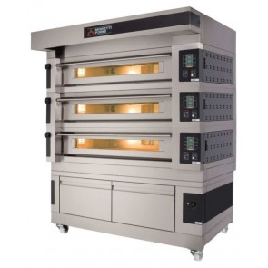 Cuptor electric pentru panificatie/patiserie, pe vatra, cu 3 camere de coacere, 100 programe de coacere, putere totala 53400W