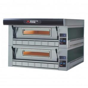 Cuptor pizza, alimentare gaz, cu doua camere de coacere, dimensiuni interioare 1100x1110x180mm