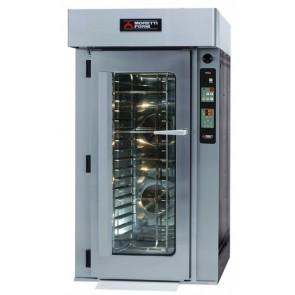 Cuptor rotativ, alimentare gaz, ventilat, cu carucior pentru 14 tavi, consum gaz: 40000W