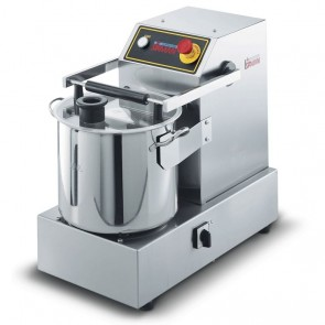 Cutter model de banc, capacitate 14,5 litri, capacitate utila 8,2 litri, alimentare 380V, putere 2940W
