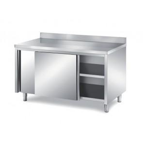 Masa-dulap, deschidere pe o parte, cu usi glisante, termostat digital, inaltator la perete, inox, dimensiune (LxlxH mm): 2500x700x850