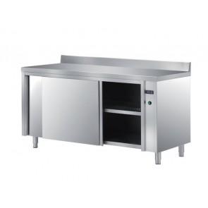 Masa-dulap, calda-ventilata, deschidere pe o parte, cu usi glisante, termostat digital, inox, dimensiune (LxlxH mm): 2400x700x850