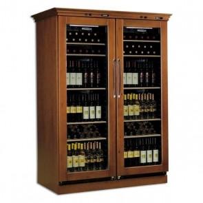 Vitrina verticala pentru vinuri, volum 355+355 litri, temperatura de lucru in intervalul +6/+16 °C, putere 250 W