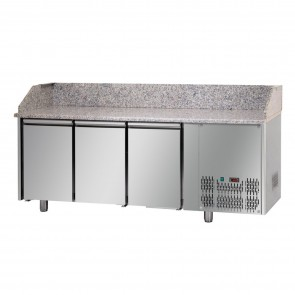 Banc de pizza, cu 3 usi, capacitate 460 litri, temperatura de lucru 0°C/+10°C