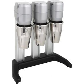 Mixer triplu, pentru frappe, cocktail-uri, cu 3 pahare din inox 0,8 litri, motor cu o viteza 15000/rpm, putere 420 W