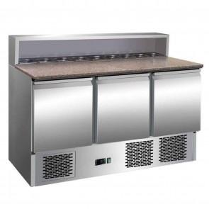 Banc refrigerant pentru pizza, putere 240 W, inox