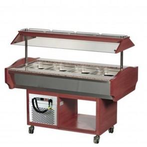 Bufet refrigerat, capacitate 4 cuve GN1/1, temperatura de lucru +2°C/+10°C, putere 3/8Hp