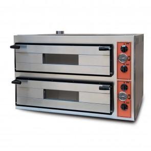 Cuptor electric pentru pizza, 2 camere, capacitate 8 pizza, alimentare 380V, putere 9600 W