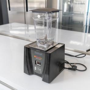 Blender CHEF, second hand, capacitate 1.3 litri, platforma din inox, display LCD albastru