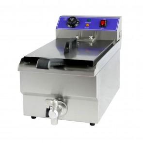 Friteuza electrica, capacitate ulei 10 litri, putere 3000 W, inox