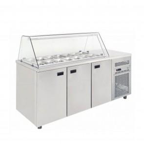 Saladeta refrigerata, capacitate 458 litri, Temperatura de lucru +2°C-+5°C (temperatura ambientala +30°C),